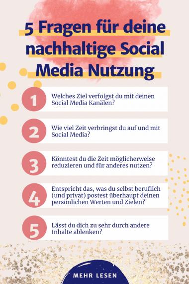 Nachhaltige Social media Nutzung